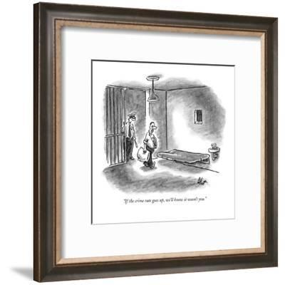 """""""If the crime rate goes up, we'll know it wasn't you."""" - New Yorker Cartoon-Frank Cotham-Framed Premium Giclee Print"""