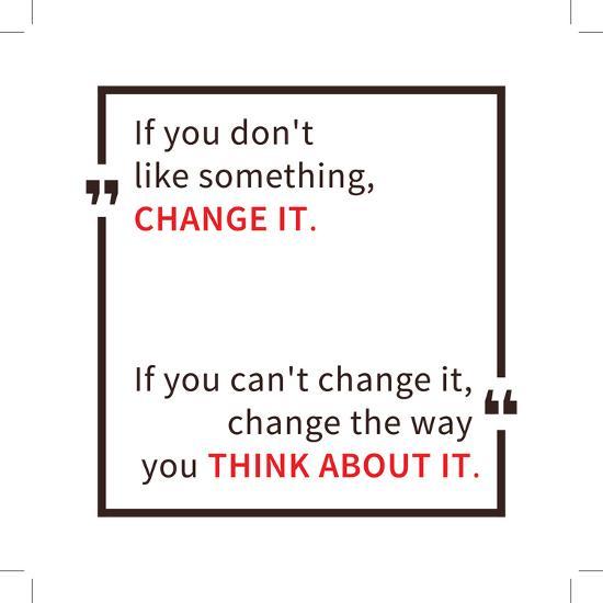 If You Don't like Something Change It. Inspirational Saying. Motivational Quote. Creative Vector Ty-AleksOrel-Art Print