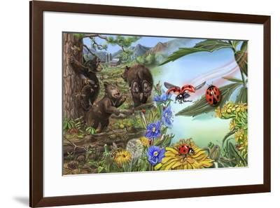 If You Love Honey Spread 6 And 7-Cathy Morrison Illustrates-Framed Giclee Print