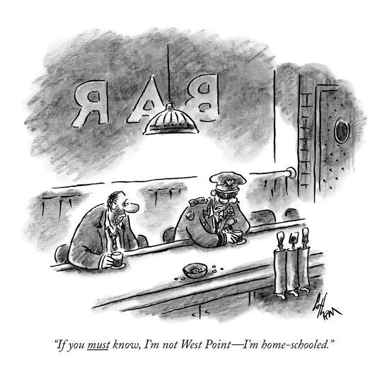 """""""If you must know, I'm not West Point—I'm home-schooled."""" - New Yorker Cartoon-Frank Cotham-Premium Giclee Print"""