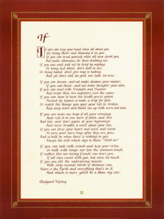 picture regarding If by Rudyard Kipling Printable referred to as If Artwork Print as a result of Rudyard Kipling