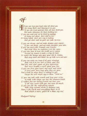 picture regarding If by Rudyard Kipling Printable referred to as If Artwork Print as a result of Rudyard Kipling