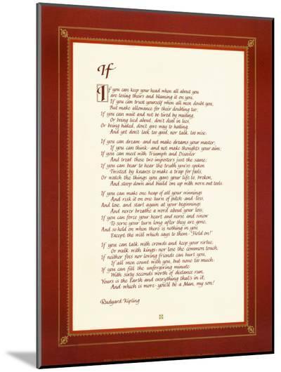 If-Rudyard Kipling-Mounted Print