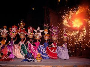 Dance and Fireworks called Bani Stui Gulal Tells the Story of the Guelaguetza, Oaxaca, Mexico by Igal Judisman