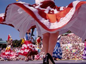 Traditional Dances, Prehispanic Festival of La Guelaguetza, Oaxaca, Mexico by Igal Judisman