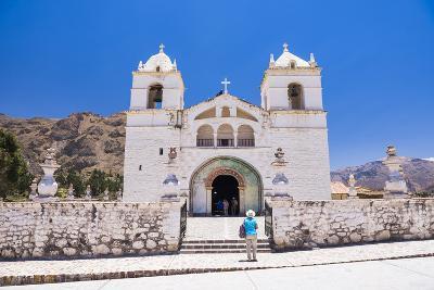 Iglesia De Santa Ana De Maca, a Church in Maca, Colca Canyon, Peru, South America-Matthew Williams-Ellis-Photographic Print