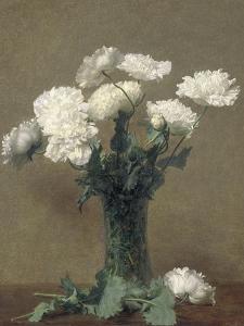 Poppies, 1891 by Ignace Henri Jean Fantin-Latour