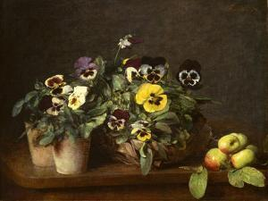 Still Life with Pansies, 1874 by Ignace Henri Jean Fantin-Latour