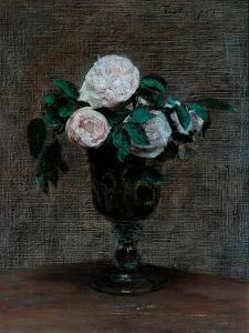 Study of Roses, 1872 by Ignace Henri Jean Fantin-Latour