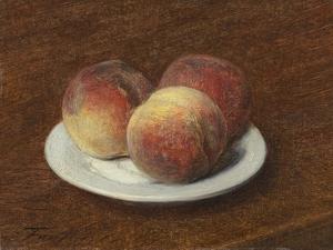 Three Peaches on a Plate, 1868 by Ignace Henri Jean Fantin-Latour