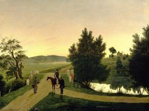 Landscape with Hunters by Ignati Stepanovich Shchedrovsky