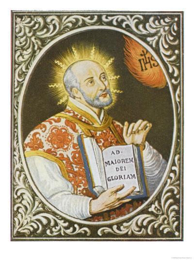 Ignatius Loyola Spanish Saint Founder of the Jesuit Order--Giclee Print