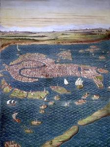 Venice: Map, 16Th Century by Ignazio Danti