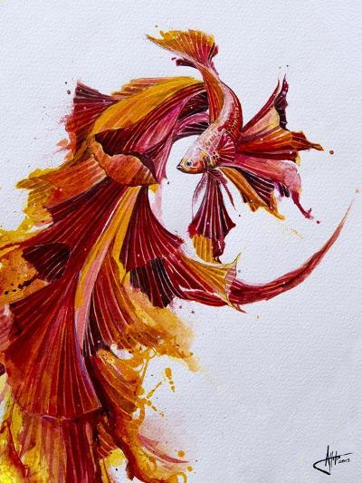 Ignite Vertical-Marc Allante-Giclee Print