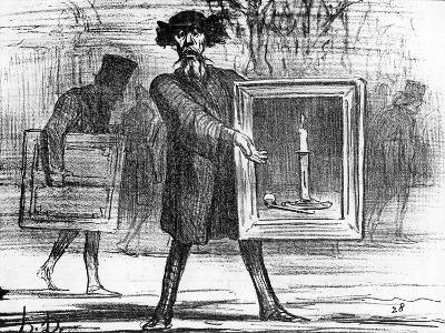 Ignoramuses.......They Have Refused This!', Caricature from 'Charivari' Magazine, 6 April, 1859-Honore Daumier-Giclee Print
