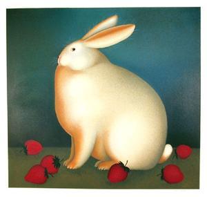 Rabbit with Strawberries by Igor Galanin