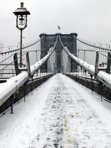Brooklyn Bridge in Snow by Igor Maloratsky