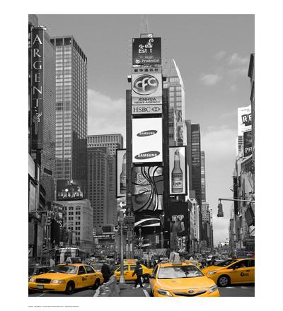 Yellow Cabs at Times Square North