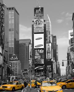 Yellow Cabs at Times Square North by Igor Maloratsky