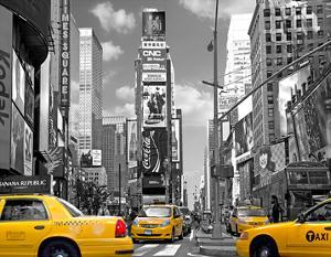 Yellow Cabs, Times Square by Igor Maloratsky
