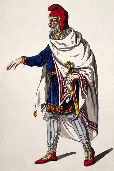 Iherold, Costume Sketch for the Clemency of Titus--Giclee Print
