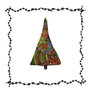Christmas Tree from Patterns.Vector by Ihnatovich Maryia