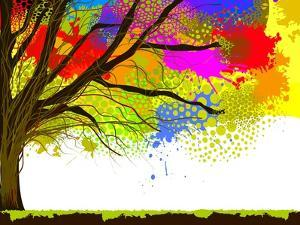 Color of Tree Stain Watercolor.. Raster by Ihnatovich Maryia