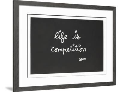 IIfe Is Competition-Ben Vautier-Framed Limited Edition