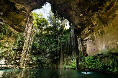 Ik-Kil Cenote near Chichen Itza in Mexico- BorisVetshev-Photographic Print