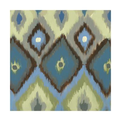 Ikat Blues I-Jeni Lee-Art Print