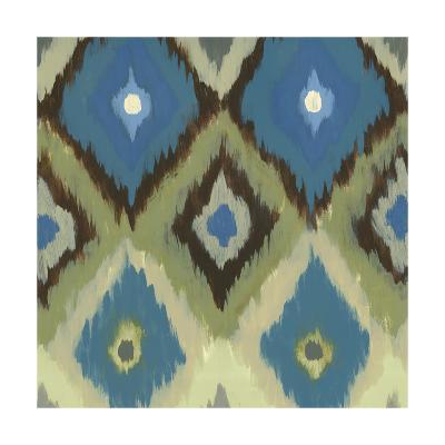 Ikat Blues II-Jeni Lee-Art Print
