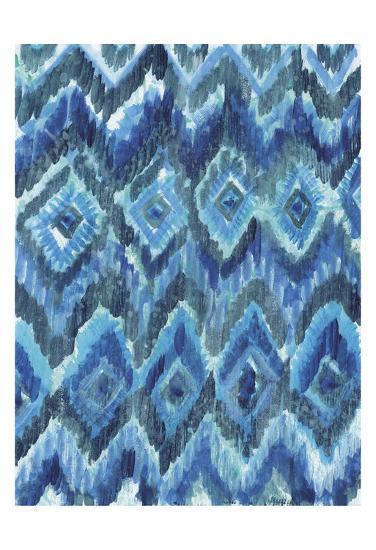 IKAT Blues-Smith Haynes-Art Print