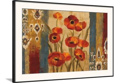Ikat Floral Tapestry-Silvia Vassileva-Framed Art Print