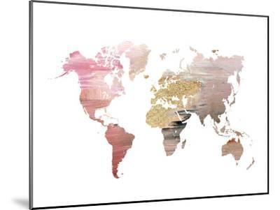 Pink World Map by Ikonolexi