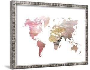 Maps framed posters artwork for sale posters and prints at art pink world mapikonolexi sciox Images