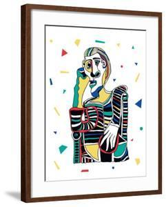 Picasso Portrait. Vector Illustration. Mosaic RGB Style by iku4