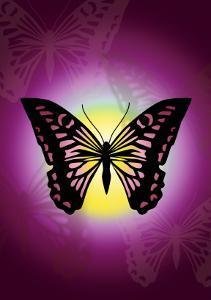 Butterfly in Purple Shadow by Ikuko Kowada