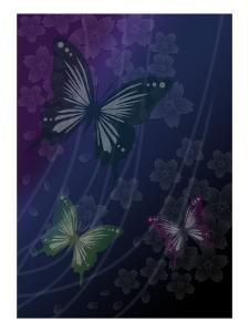 Cherry Blossoms Blue by Ikuko Kowada