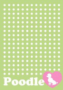 Dot and Poodle Green by Ikuko Kowada