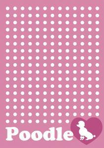 Dot and Poodle Pink by Ikuko Kowada