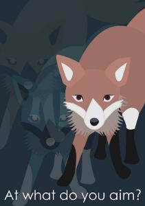 Fox in Blue by Ikuko Kowada
