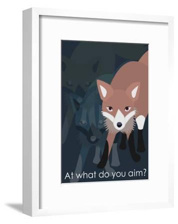 Fox in Blue