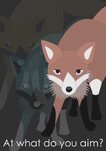 Fox in Gray by Ikuko Kowada
