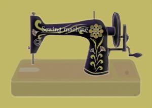 Sewing Machine in Yellow by Ikuko Kowada