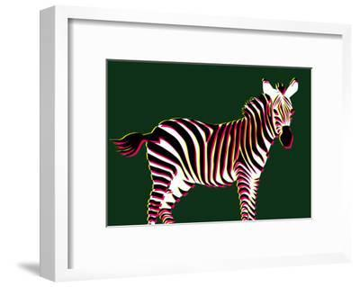 Zebra in Green Horizontal