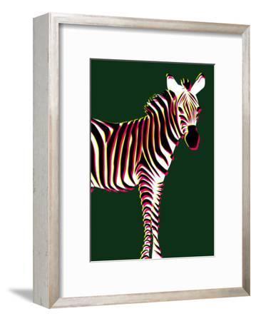 Zebra in Green Vertical