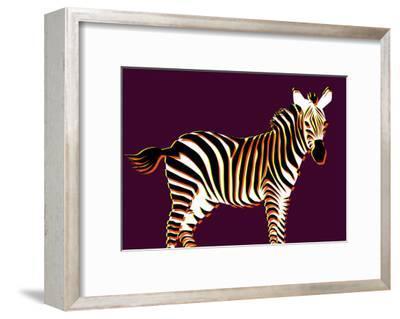 Zebra in Purple Horizontal