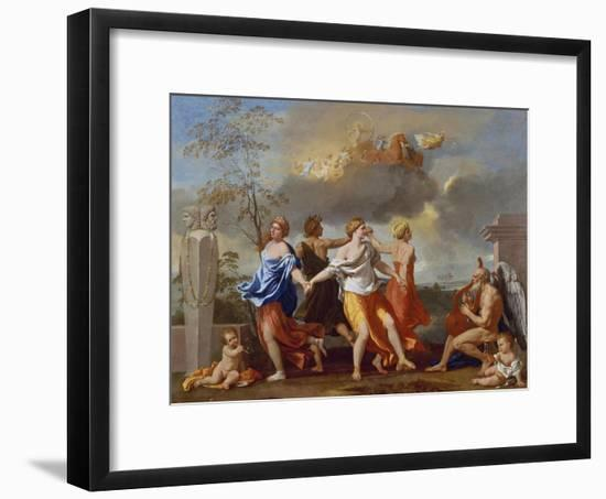 Il Ballo Della Vita Humana (A Dance to the Music of Time), 1638-1640 for Clemens Ix-Nicolas Poussin-Framed Giclee Print