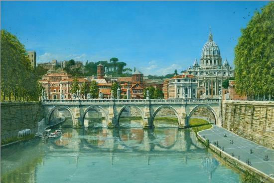 Il Fiume Tevere Roma-Richard Harpum-Art Print