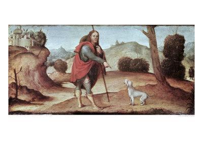 St. Rocco, from a Predella Panel